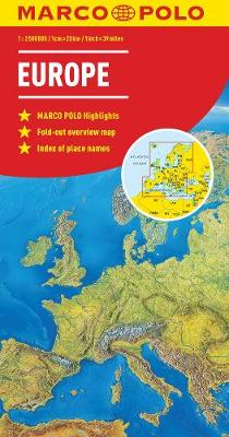 Europe Marco Polo Map by Marco Polo