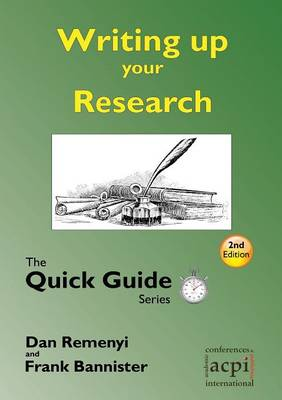 Writing Up Your Research by Dave Harris