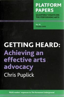Platform Papers 18, October 2008 book