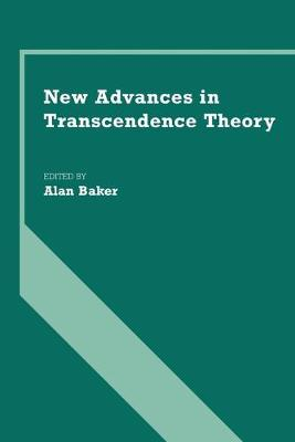 New Advances in Transcendence Theory book