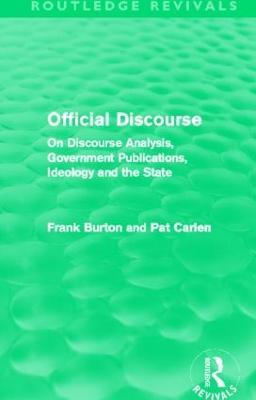 Official Discourse by Frank Burton