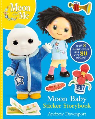 Moon Baby Sticker Storybook by Andrew Davenport