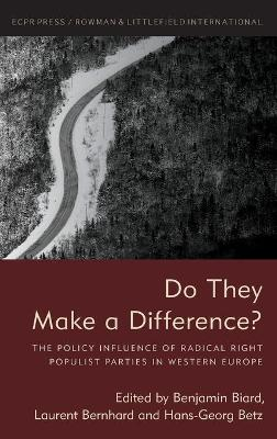 Do They Make a Difference?: The Policy Influence of Radical Right Populist Parties in Western Europe by Benjamin Biard