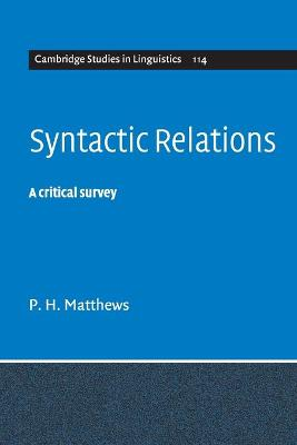 Syntactic Relations book