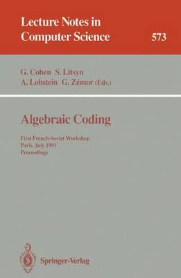 Algebraic Coding by Simon Litsyn