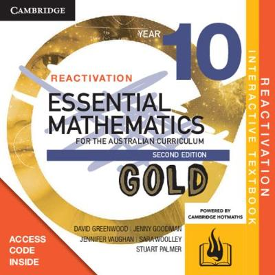 Essential Mathematics Gold for the Australian Curriculum Year 10 Reactivation (Card) by David  Greenwood