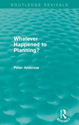 What Happened to Planning? book
