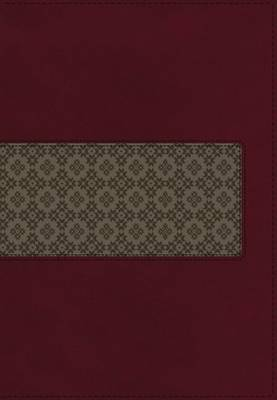 KJV Study Bible, Leathersoft, Maroon/Brown, Red Letter Edition: Second Edition by