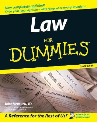 Law for Dummies, 2nd Edition by John Ventura