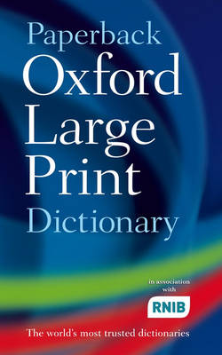 Paperback Oxford Large Print Dictionary book