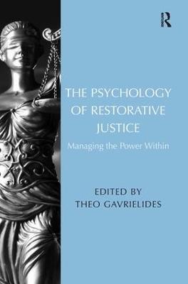 Psychology of Restorative Justice book