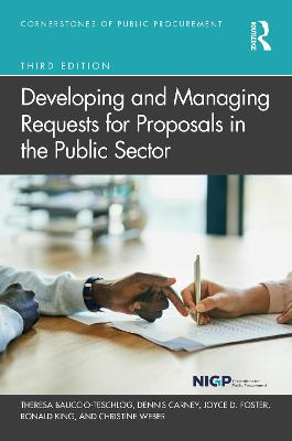 Developing and Managing Requests for Proposals in the Public Sector book