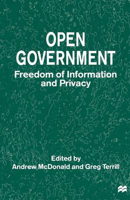 Open Government by Andrew McDonald