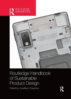 Routledge Handbook of Sustainable Product Design by Jonathan Chapman