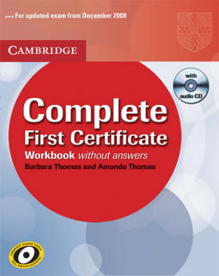 Complete: Complete First Certificate Workbook with Audio CD by Amanda Thomas