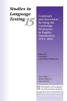 Continuity and Innovation book