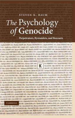 Psychology of Genocide book