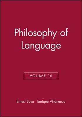 Philosophy of Language by Ernest Sosa