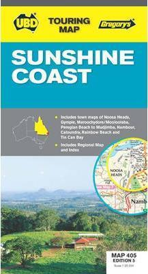 Sunshine Coast Map 405 5th ed by UBD Gregorys