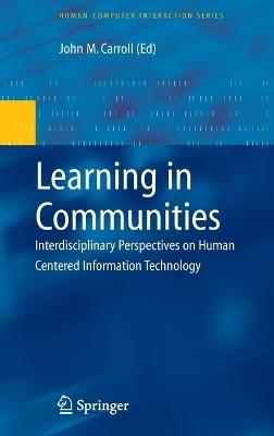 Learning in Communities by John M. Carroll