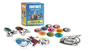 FORTNITE (Official) Loot Pack: Includes Pins, Patch, Vinyl Stickers, and Magnets! book