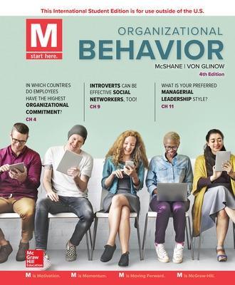 ISE M: Organizational Behavior by Steven McShane