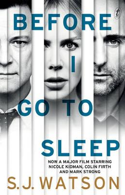 Before I Go To Sleep film tie-in by S. J. Watson
