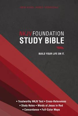 NKJV, Foundation Study Bible, Hardcover, Red Letter Edition by