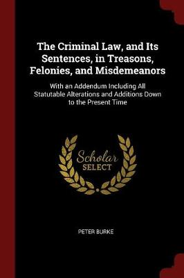 The Criminal Law, and Its Sentences, in Treasons, Felonies, and Misdemeanors by Peter Burke
