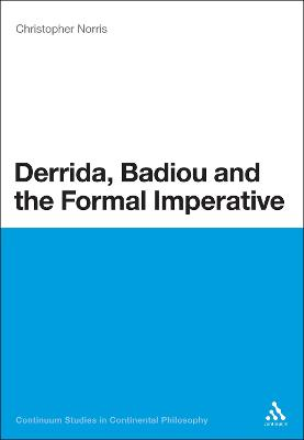 Derrida, Badiou and the Formal Imperative book