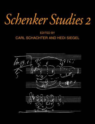 Schenker Studies 2 book