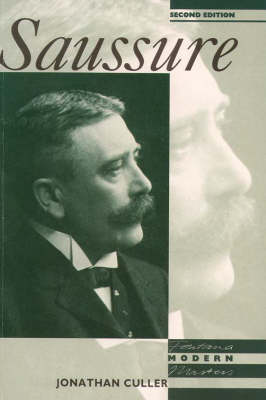 Saussure by Jonathan Culler