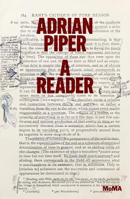 Adrian Piper: A Reader by Cornelia Butler