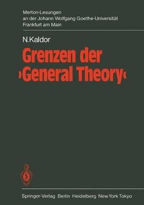 Grenzen Der 'General Theory' by Nicholas Kaldor