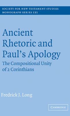 Ancient Rhetoric and Paul's Apology book