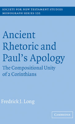 Ancient Rhetoric and Paul's Apology book