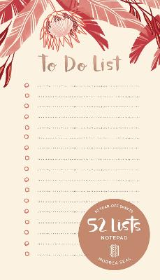 52 Lists To Do List Notepad by Moorea Seal