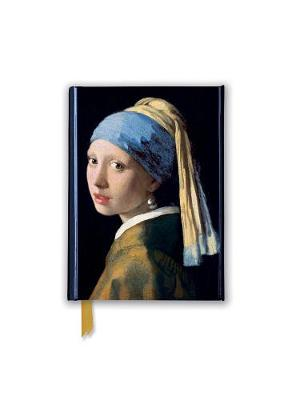 Johannes Vermeer: Girl With a Pearl Earring (Foiled Pocket Journal) by Flame Tree Studio