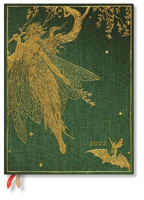 2022 Olive Fairy, Ultra, (Day at a Time) Diary: Hardcover, 80 gsm, Day to a Page Layout (except Sat/Sun), elastic closure book