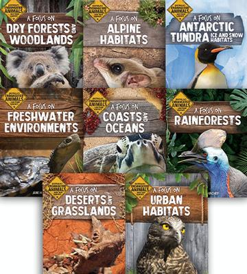Australia's Endangered Animals and Their Habitats 8 Book Set by Jane Hinchey