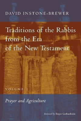 Traditions of the Rabbis from the Era of the New Testament, Volume 1 by David Instone-Brewer