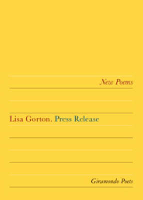 Press Release by Lisa Gorton