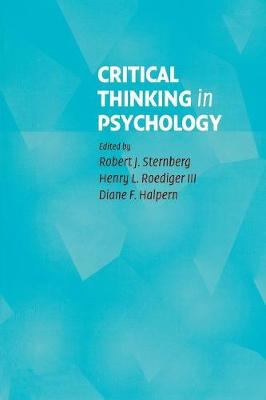 Critical Thinking in Psychology by Robert J. Sternberg