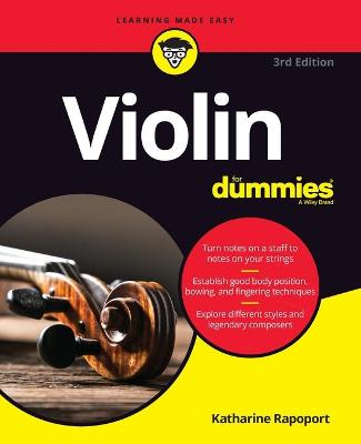 Violin For Dummies: Book + Online Video and Audio Instruction by Katharine Rapoport