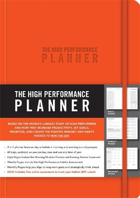 The High Performance Planner [Orange] by Brendon Burchard