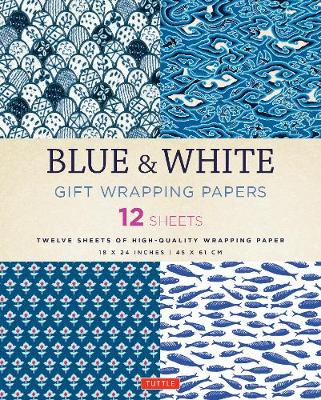 Blue & White Gift Wrapping Papers by Tuttle Publishing