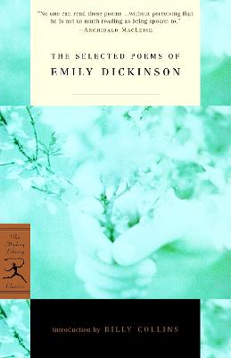 Mod Lib Selected Poems by Emily Dickinson