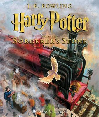 Harry Potter and the Sorcerer's Stone: The Illustrated Edition (Harry Potter, Book 1) by J K Rowling