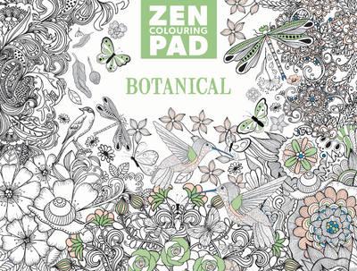Zen Colouring Pad - Botanical book
