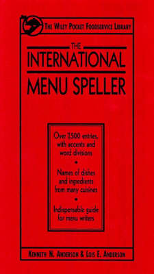 The International Menu Speller by Kenneth Anderson